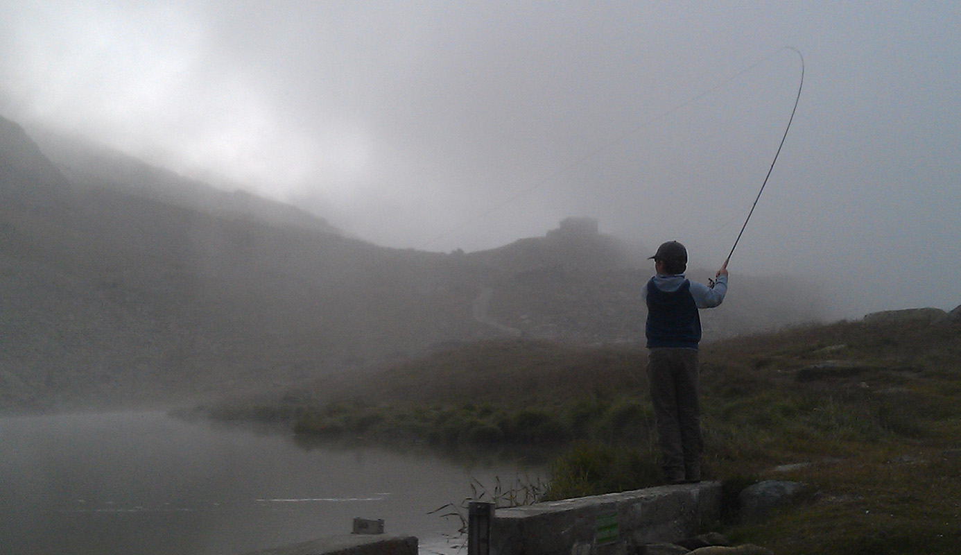 Fly Fishing in Switzerland, hooking up in the clouds